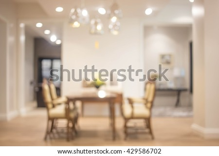 Blur Dining Room Background, Product Display.