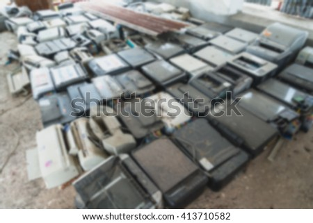 blur Electronic waste - stock photo