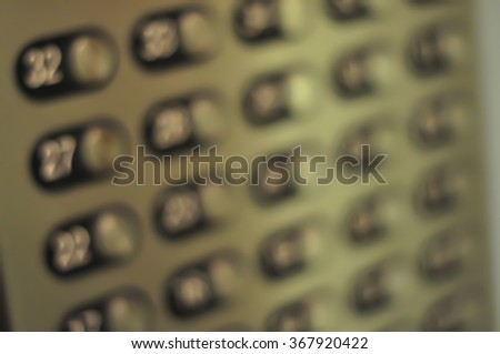 Blur Elevator Control Buttons Panel