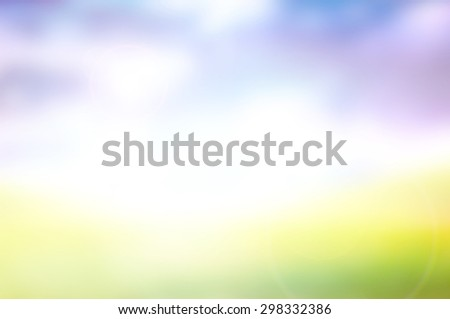 blur grass and sky - stock photo
