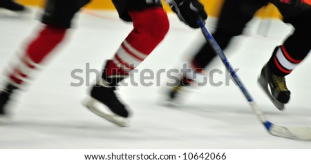 Blur hockey player's - stock photo
