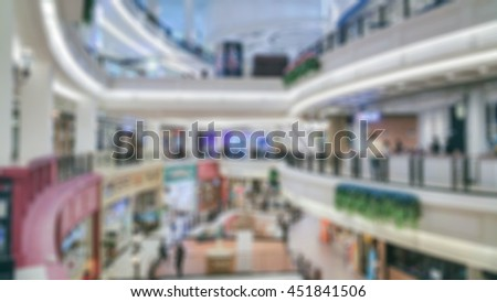 Blur image of background shopping mall