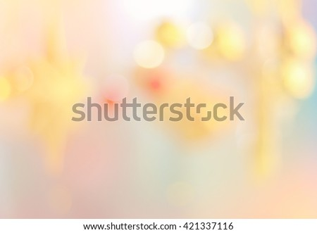 blur image of Festive background. Christmas and New Year feast bokeh background with copyspace - stock photo