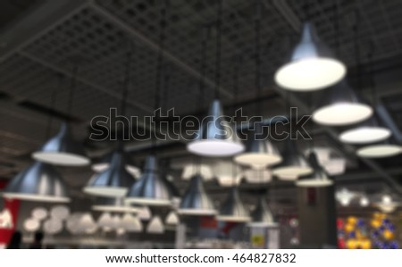 Blur Industrial look pendant lamps over the windows