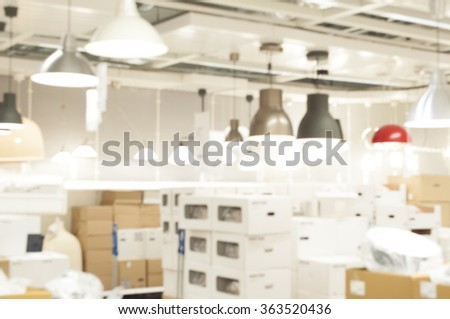 Blur lighting department store background