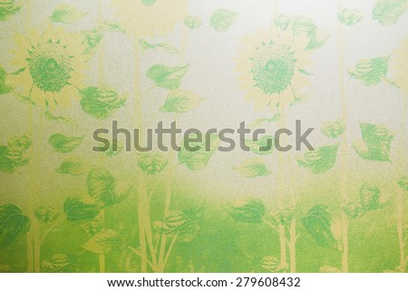 Blur natural pattern on frosted glass window. - stock photo