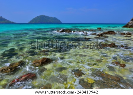 Blur Ocean wave, Lipe island, Satun, Thailand - stock photo