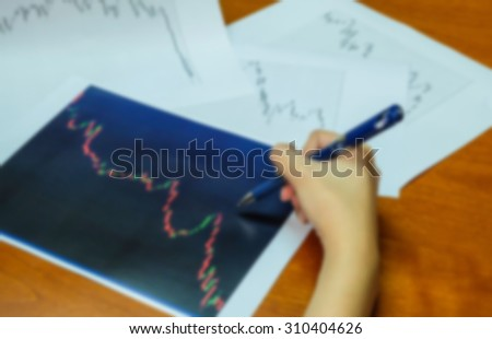 blur of graph analysis work concept