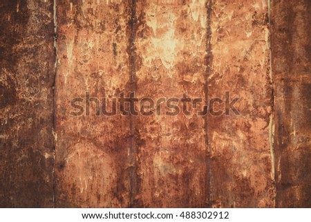 Blur of old metal iron rust background texture.