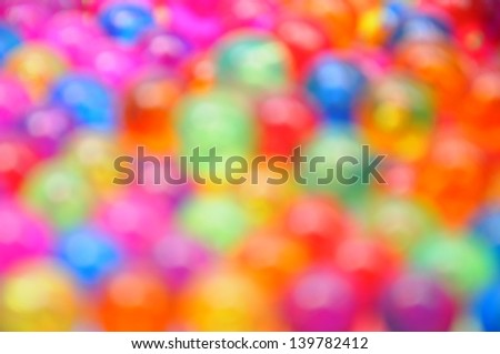 blur of plastic ball for background