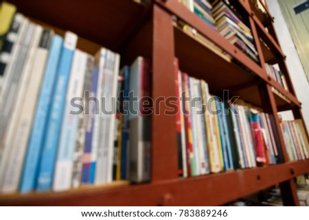 Blur Old Books in shelf