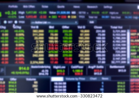 blur Stock market for background