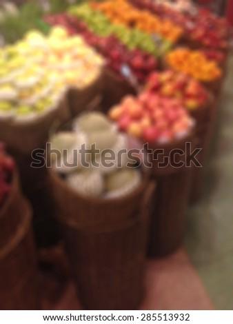 blur supermarket for background   - stock photo