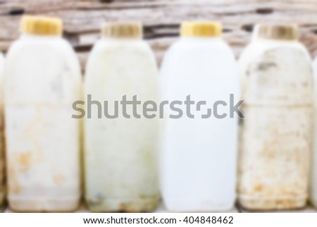 Blur used plastic backgrounds - stock photo