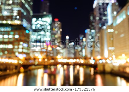 Blured Chicago background - stock photo