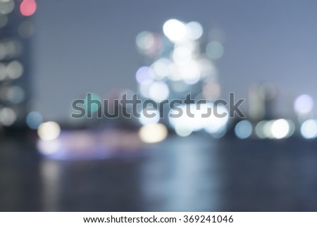 Blurred abstract background aerial view of Bangkok  - stock photo