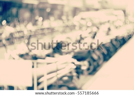 Blurred abstract background and can be illustration to article of Motorcycle parking