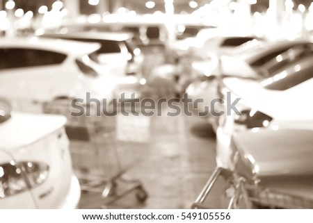 Blurred abstract background and can be illustration to article of Parking lot