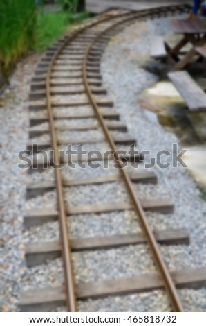 Blurred abstract background and can be illustration to article of Railroad