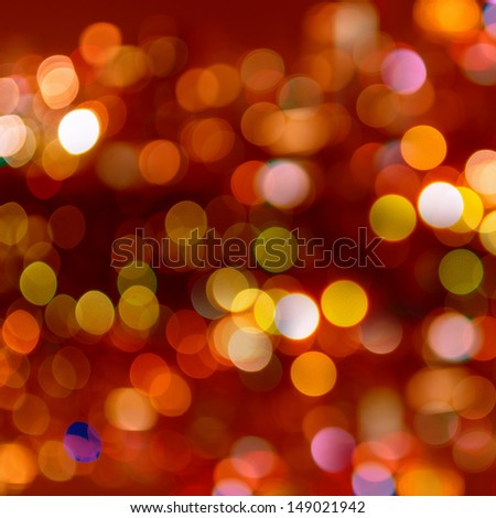 Blurred abstract background lights, beautiful Christmas. - stock photo