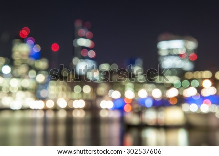 Blurred abstract background lights, beautiful cityscape view. - stock photo