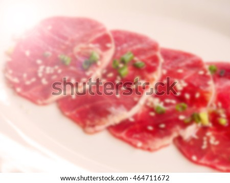 Blurred abstract background of Beef Seasoning
