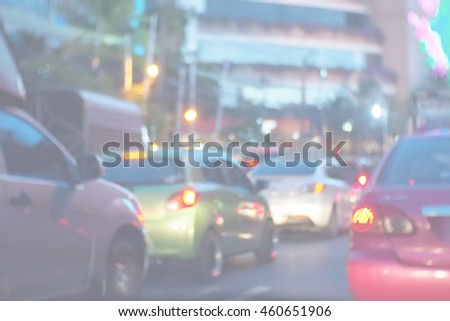 Blurred abstract background of Blurred abstract background of Traffic