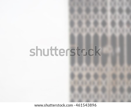 Blurred abstract background of Walls and steel doors