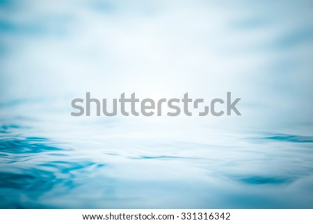Blurred abstract background of wavy water in cool cyan turquoise blue green vintage color tone with vignette: Blurry natural aqua soft pattern conceptual textured backdrop for spa and creative concept - stock photo