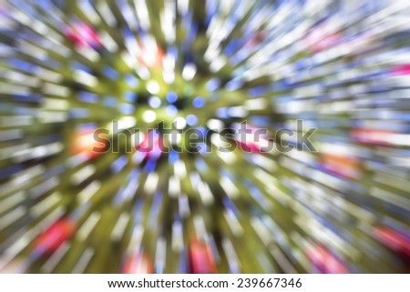 Blurred abstract background,zoom Bokeh light - stock photo