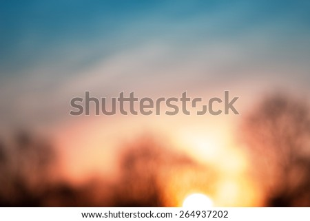 Blurred abstract beautiful colorful nature sunset background  - stock photo