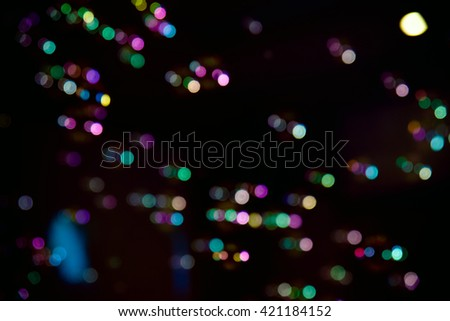 Blurred Abstract colorful soap bubbles with bokeh background - stock photo