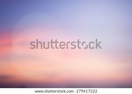 blurred art beautiful sky natural landscape background with ray flare light.blurry sunshine wallpaper concept.backdrop pastel tone.blur idyllic shore sundown hour.abstract dream ideal magic coastline  - stock photo