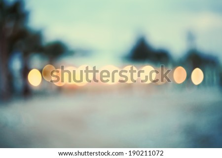 Blurred background.Abstract background beach.Vintage and toned photo.Real bokeh. - stock photo