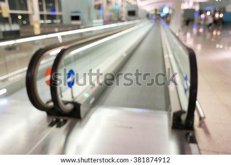 blurred background Airport