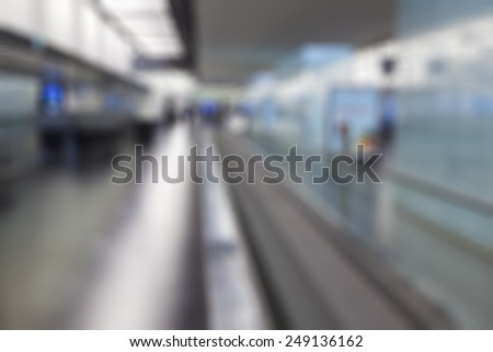 Blurred Background. Airport Terminal - stock photo