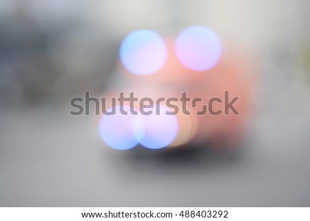 blurred background, ambulance