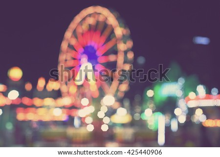 blurred background - blur theme park