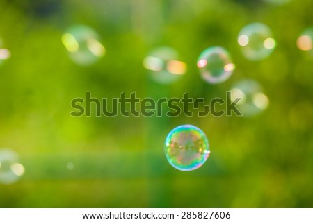 Blurred background Bubbles abstract elements for designers.