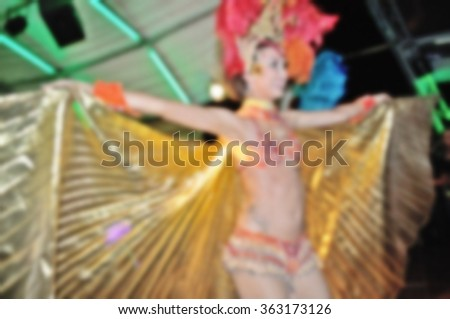 Blurred background - Carnival dancer - stock photo
