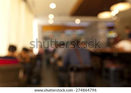 Blurred background ,Coffee shop blur background  - stock photo