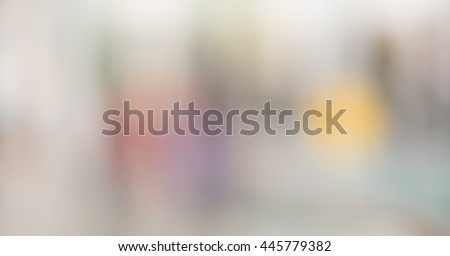 Blurred background :Customer shopping at department store with bokeh light. - stock photo