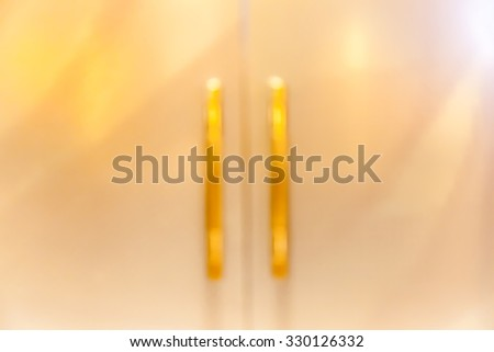 Blurred background door handles of hotel meeting room. - stock photo