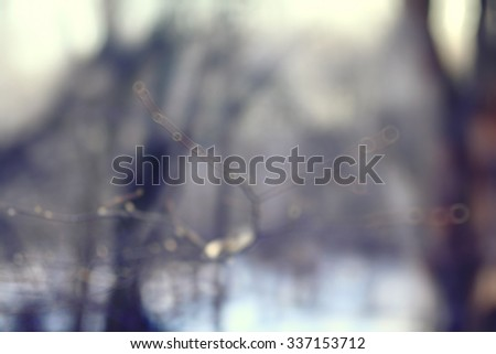 blurred background early winter - stock photo