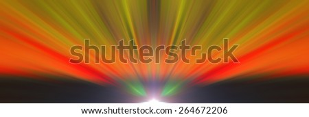 Blurred background image. Abstract image of the element flower petals. Bright red, yellow, green, orange. Background to use for the substrate for texts about spring, summer, flowers. Effect blur.