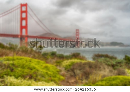 Blurred Background image from San Francisco - stock photo