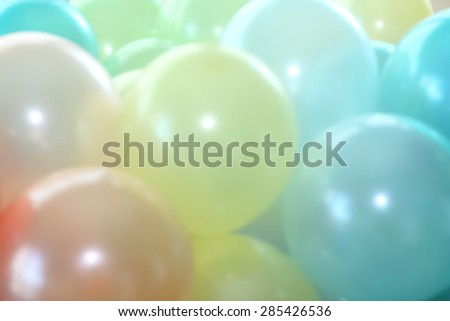 blurred background of colorful balloons - stock photo