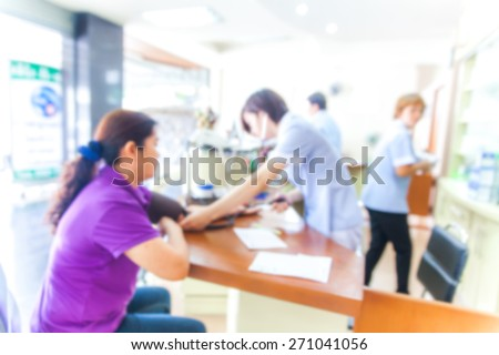 blurred background of measuring blood pressure,healthcare, hospital and medicine concept, - stock photo