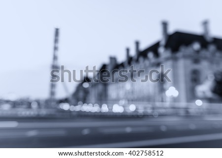 Blurred background of Westminster skyline in London. - stock photo