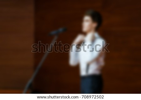 Blurred background performance on the scene of people